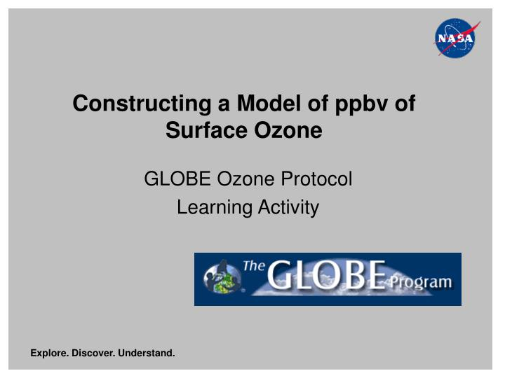 constructing a model of ppbv of surface ozone n.