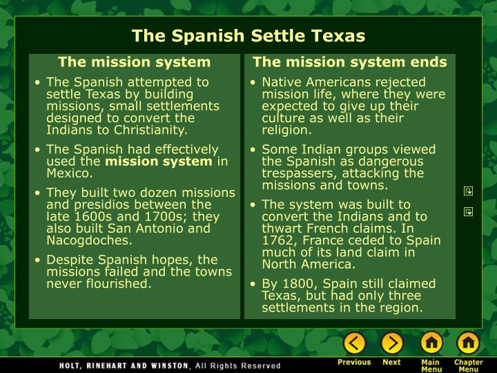 The mission system