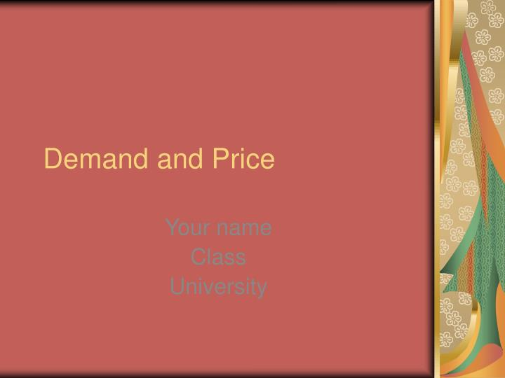 demand and price n.