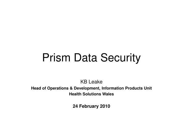 prism data security n.