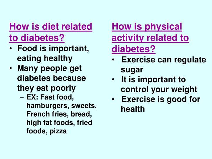 How is physical activity related to diabetes?