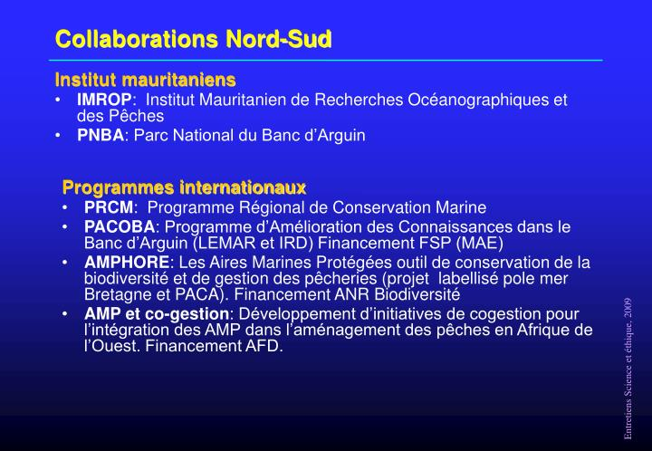 Collaborations Nord-Sud