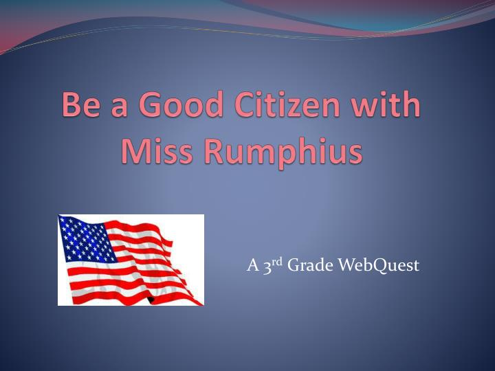 be a good citizen with miss rumphius n.