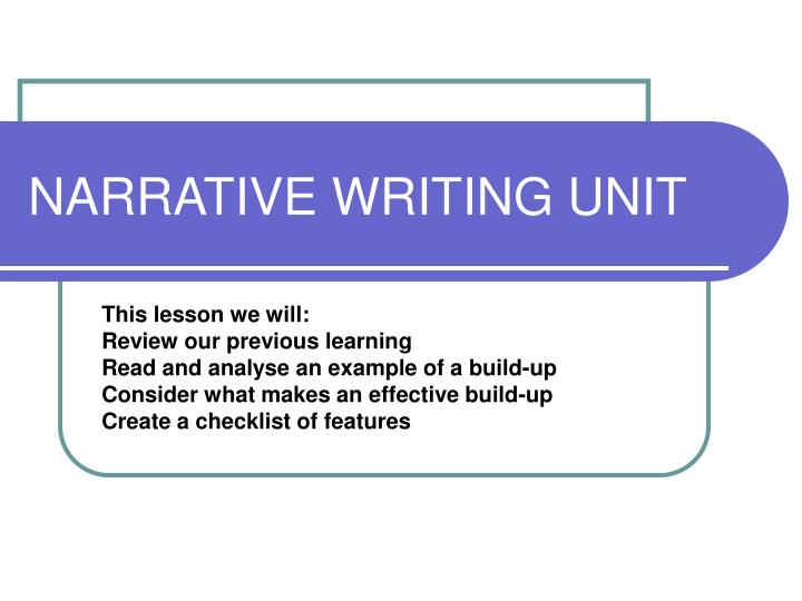narrative writing unit n.