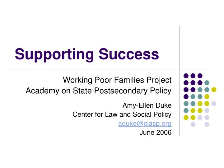 supporting success n.