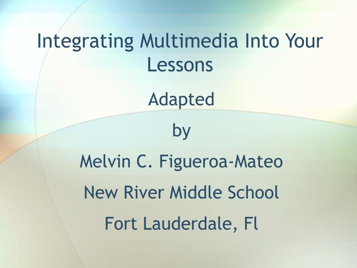 integrating multimedia into your lessons n.