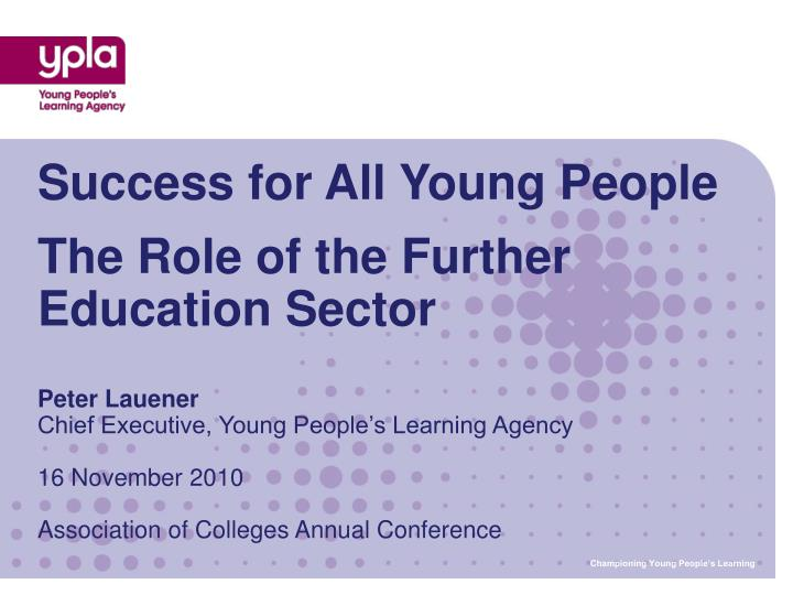 Success for All Young People