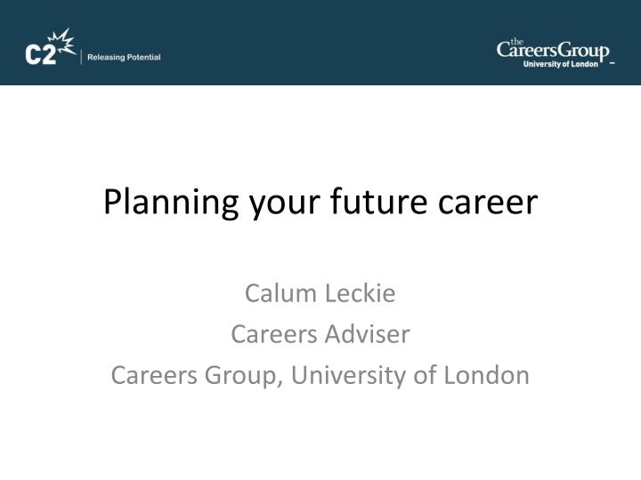 planning your future career n.