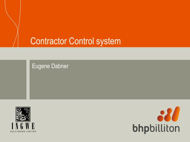 contractor control system n.