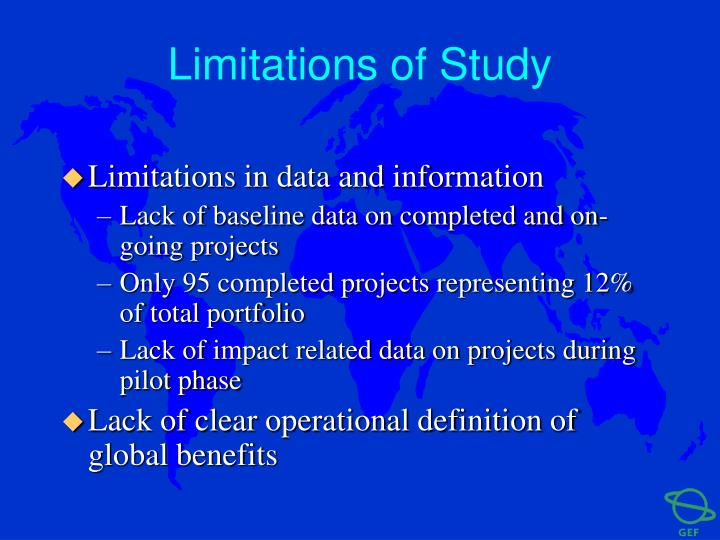 Limitations of Study