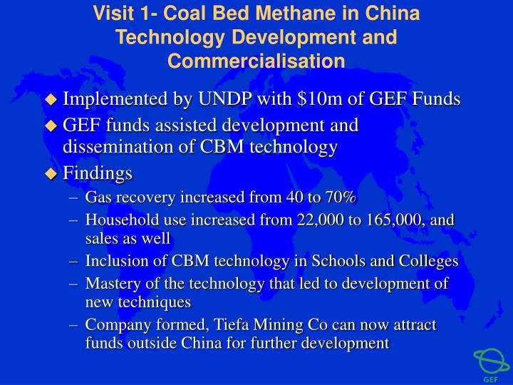 Visit 1- Coal Bed Methane in China