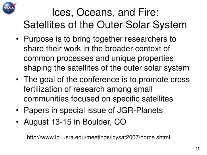 Ices, Oceans, and Fire: