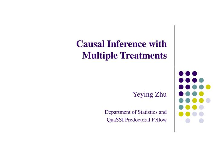 causal inference with multiple treatments n.