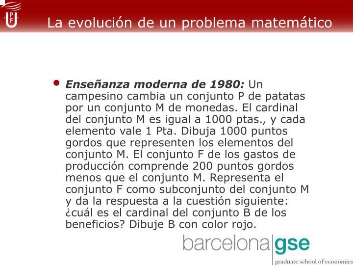 La evolución de un problema matemático