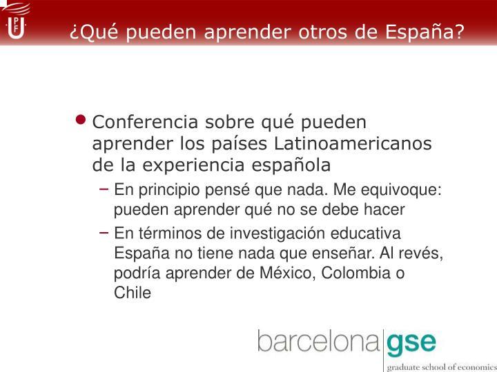 ¿Qué pueden aprender otros de España?