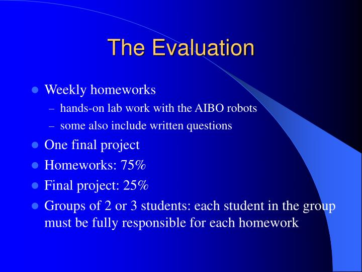 The Evaluation