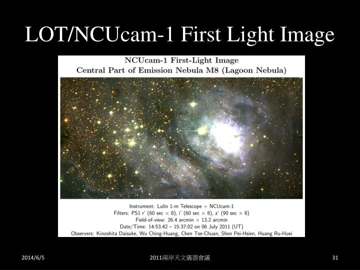 LOT/NCUcam-1 First Light Image