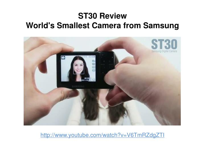 st30 review world s smallest camera from samsung n.