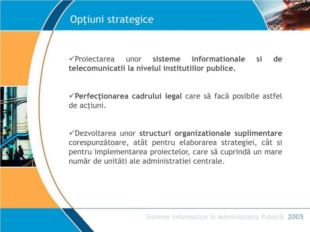 opțiuni strategice