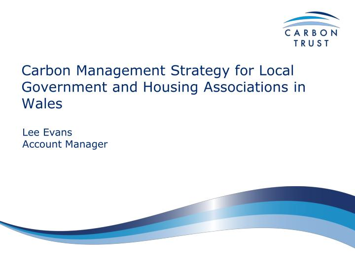 carbon management strategy for local government and housing associations in wales n.