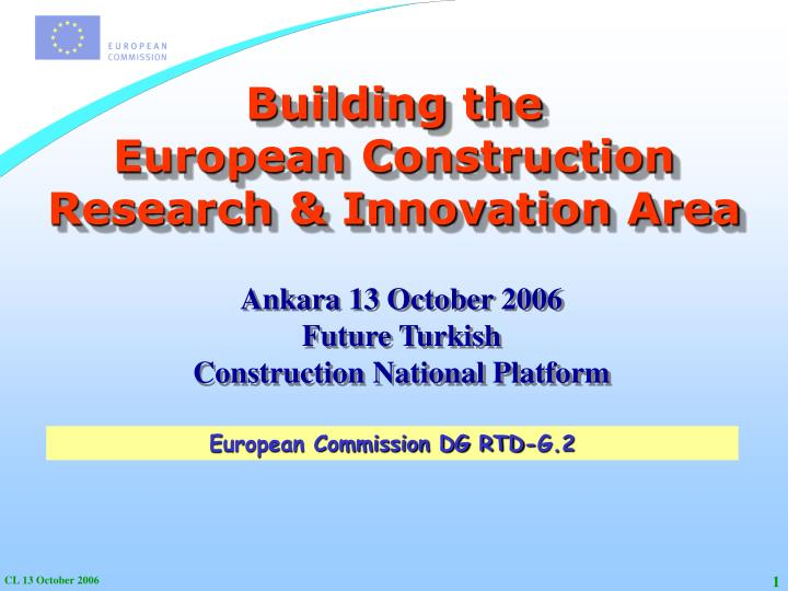 building the european construction research innovation area n.
