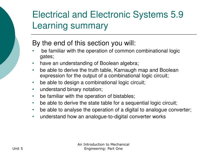 Electrical and Electronic Systems 5.9