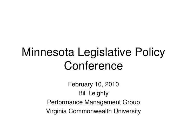 minnesota legislative policy conference n.