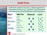 audit firms