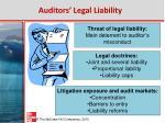 auditors legal liability