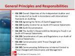 general principles and responsibilities