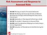risk assessment and response to assessed risks
