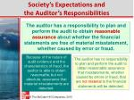 society s expectations and the auditor s responsibilities