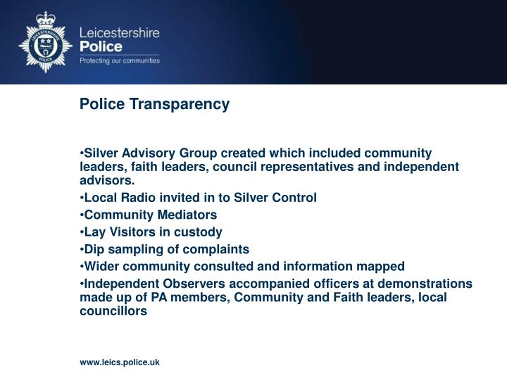 Police Transparency