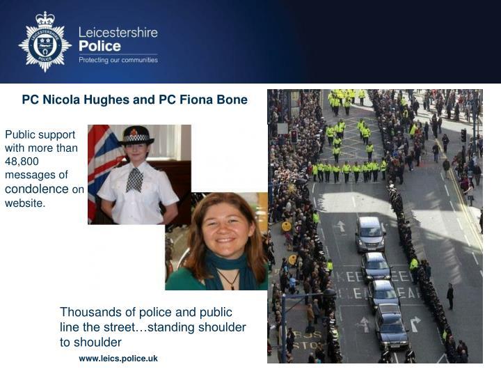 PC Nicola Hughes and PC Fiona Bone