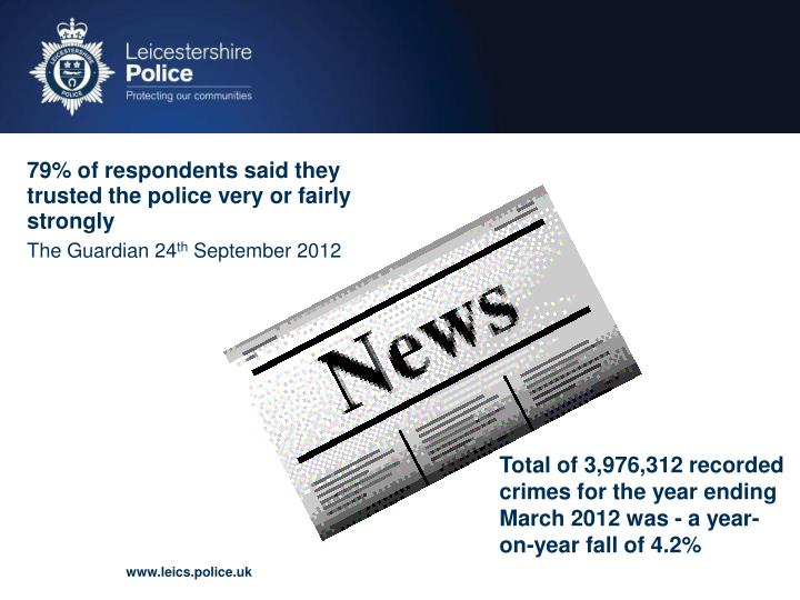 79% of respondents said they trusted the police very or fairly strongly