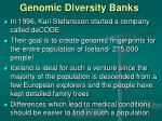 genomic diversity banks