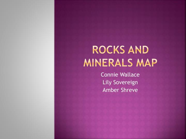 rocks and minerals map n.