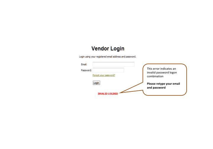 This error indicates an invalid password logon combination