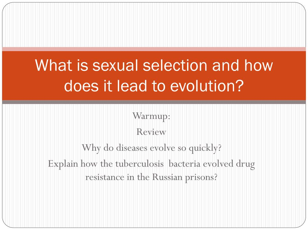 what is sexual selection and how does it lead to evolution l.