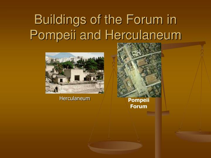 buildings of the forum in pompeii and herculaneum n.