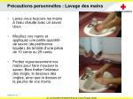 pr cautions personnelles lavage des mains