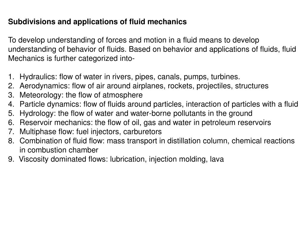 PPT - WELCOME TO CBE 218 CHEMICAL ENGINEERING II FLUID