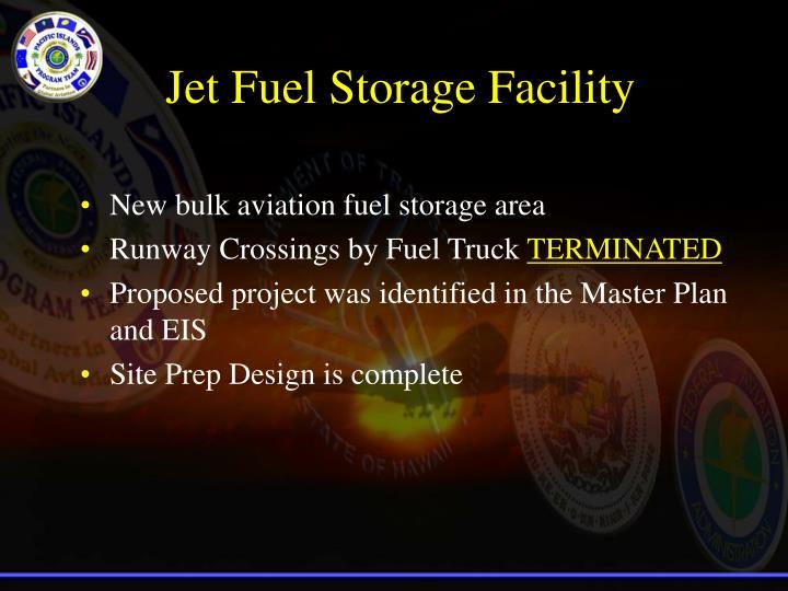Jet Fuel Storage Facility