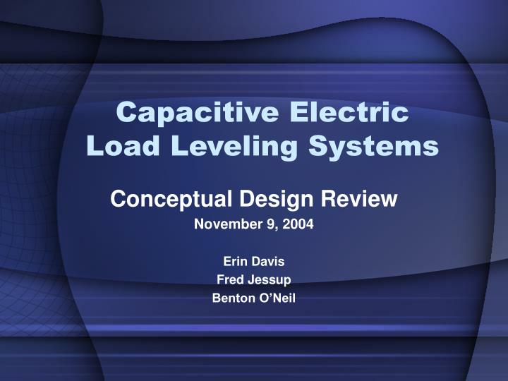 capacitive electric load leveling systems n.