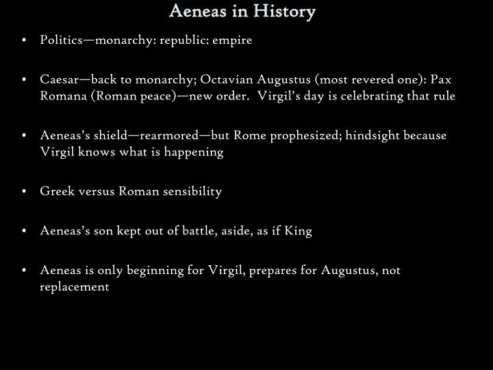 Aeneas in History