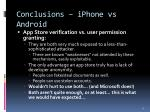 conclusions iphone vs android