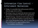 information flow control enforcement mechanisms