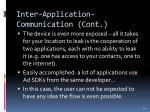 inter application communication cont