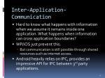 inter application communication