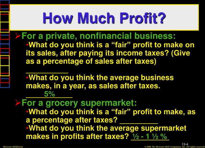 How Much Profit?